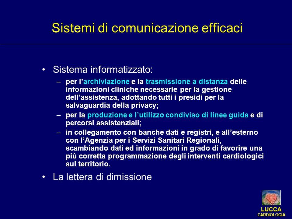 Sistema informatizzato : –per larchiviazione e la trasmissione a distanza delle informazioni cliniche necessarie per la gestione dellassistenza, adott