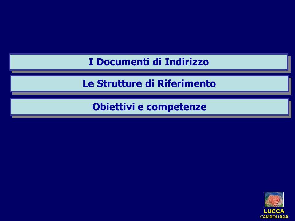 I Documenti di Indirizzo Obiettivi e competenze Le Strutture di Riferimento LUCCA CARDIOLOGIA
