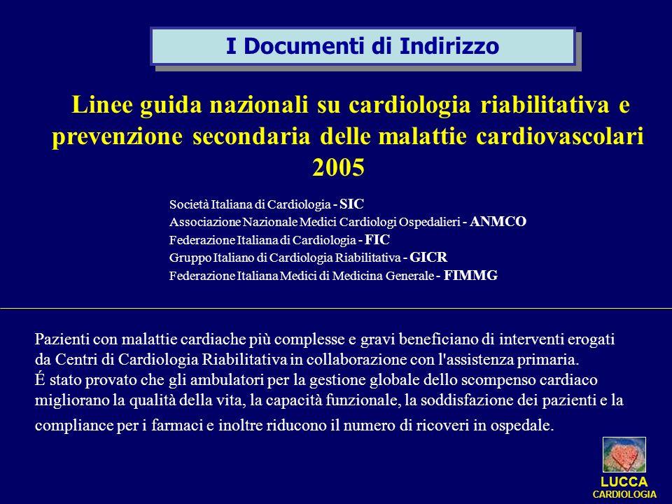 Linee guida nazionali su cardiologia riabilitativa e prevenzione secondaria delle malattie cardiovascolari 2005 Società Italiana di Cardiologia - SIC