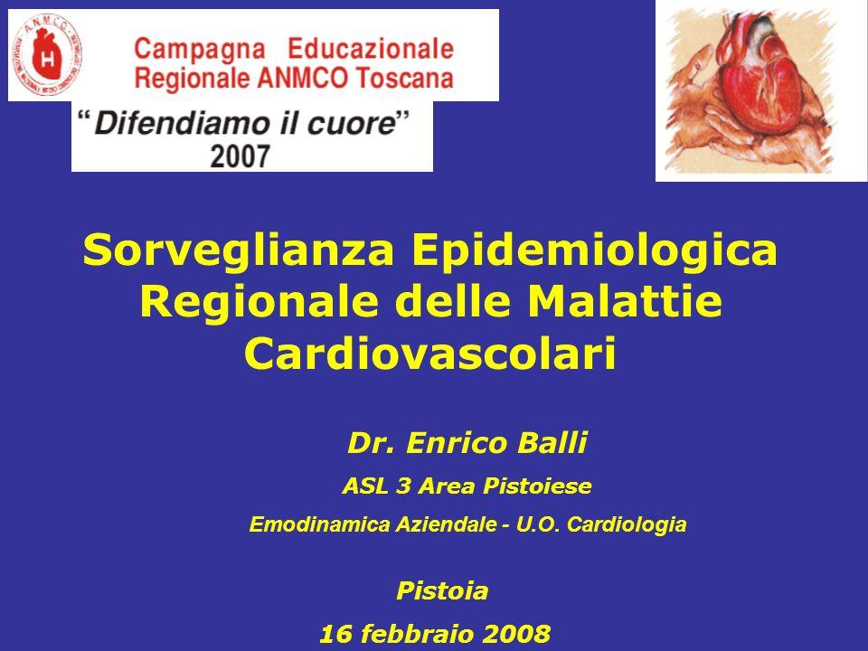 Dr.Enrico Balli ASL 3 Area Pistoiese Emodinamica Aziendale - U.O.