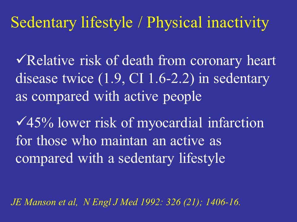 Avoidance of Obesity JE Manson et al, N Engl J Med 1992: 326 (21); 1406-16.