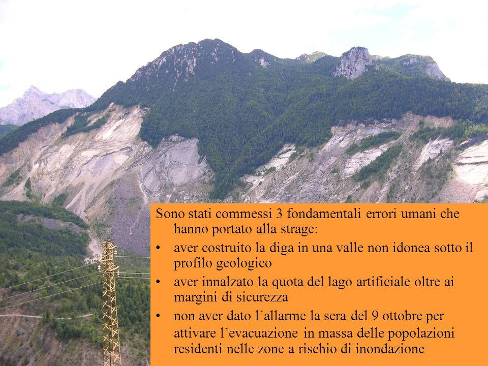 I SEGNALI PREMONITORI Poco tempo prima della catastrofe, si hanno i primi segnali premonitori: nel 1959 la frana sulla vicina diga a Pontesei.