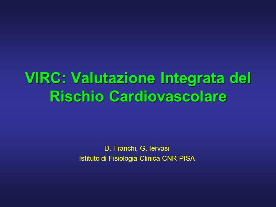 D. Franchi, G. Iervasi - Istituto di Fisiologia Clinica CNR PISA 32 Parametri clinici di base