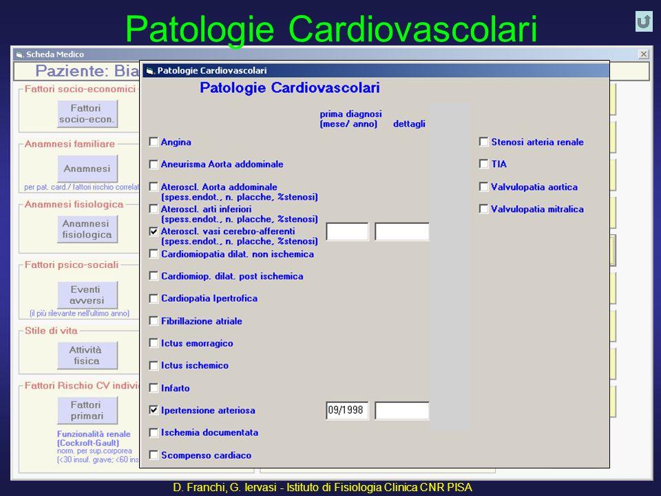 D. Franchi, G. Iervasi - Istituto di Fisiologia Clinica CNR PISA 35 Patologie Cardiovascolari