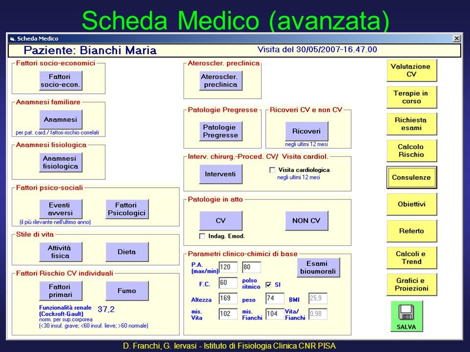 D. Franchi, G. Iervasi - Istituto di Fisiologia Clinica CNR PISA 7 Il programma VIRC