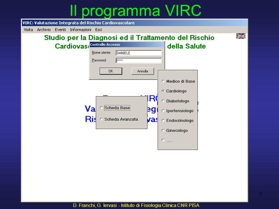 D. Franchi, G. Iervasi - Istituto di Fisiologia Clinica CNR PISA 8 Anagrafica