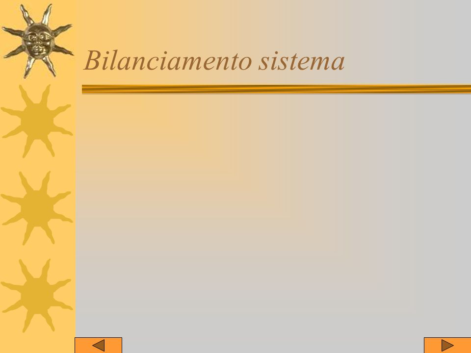 Bilanciamento sistema