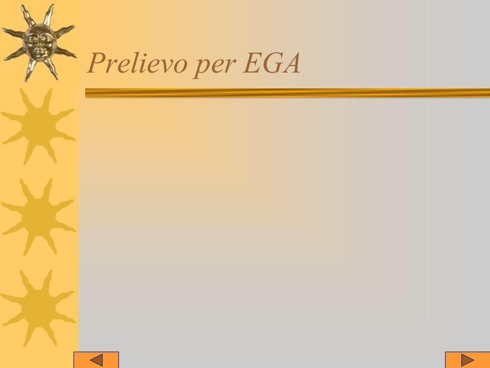 Prelievo per EGA