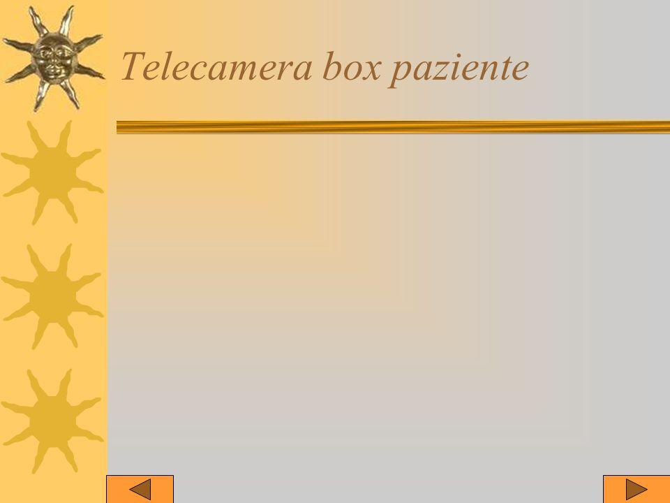 Telecamera box paziente