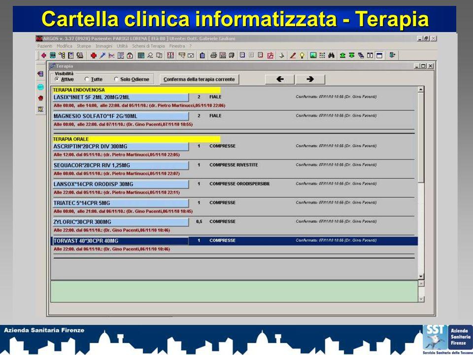 Cartella clinica informatizzata - Terapia
