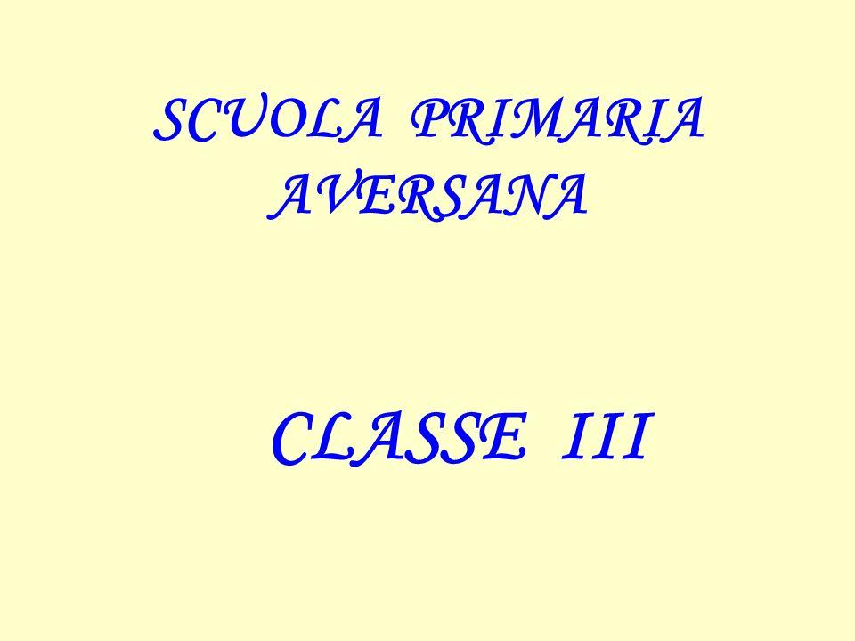 SCUOLA PRIMARIA AVERSANA CLASSE III