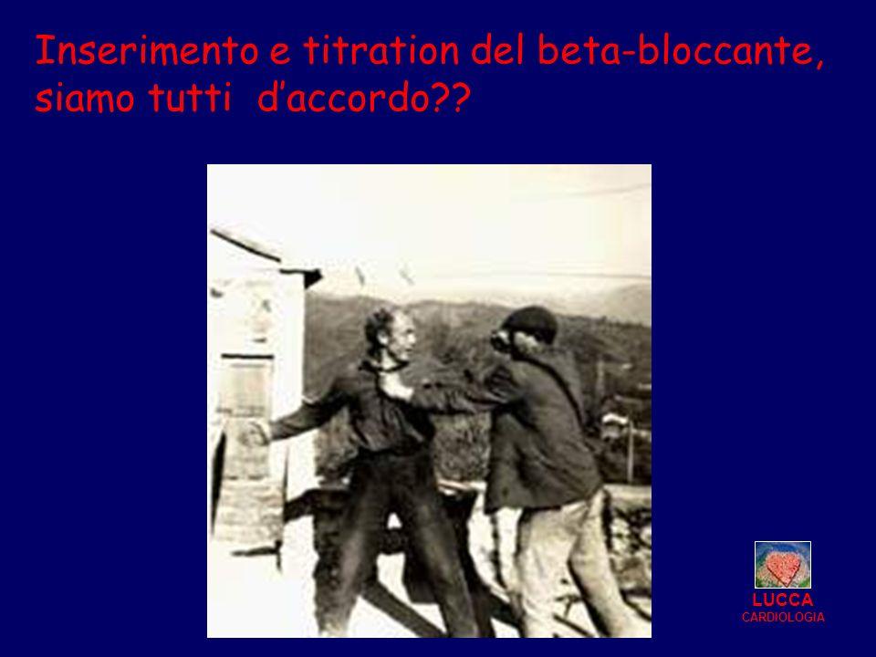 Inserimento e titration del beta-bloccante, siamo tutti daccordo?? LUCCA CARDIOLOGIA