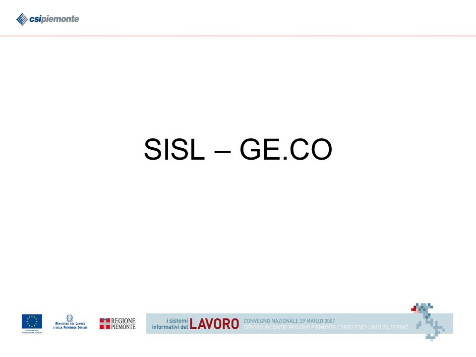 SISL – GE.CO