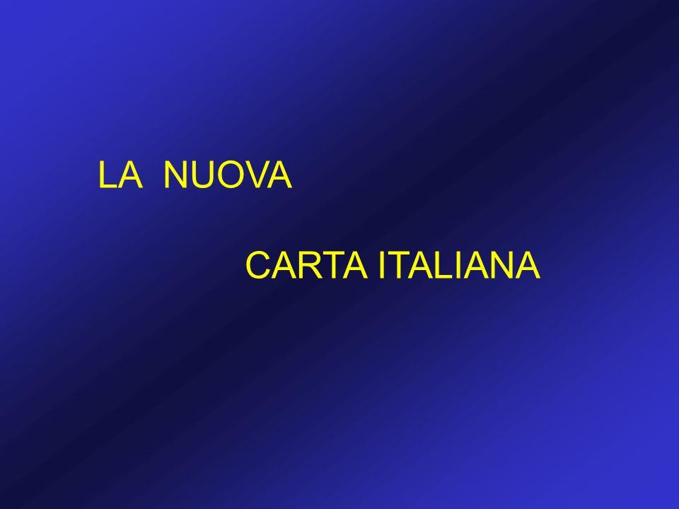 LA NUOVA CARTA ITALIANA