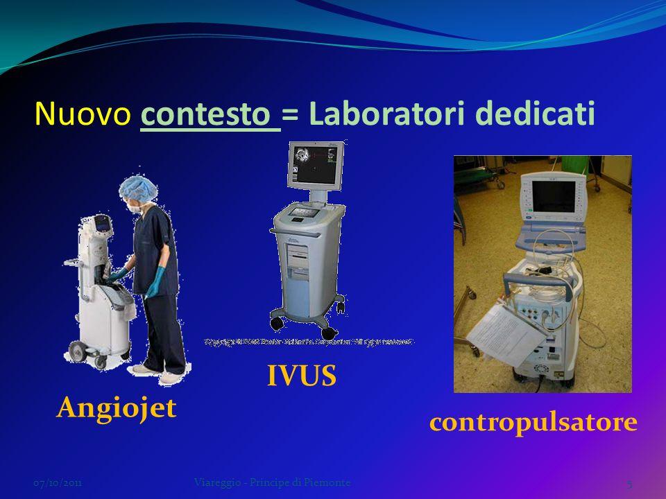 07/10/2011Viareggio - Principe di Piemonte5 Angiojet contropulsatore Nuovo contesto = Laboratori dedicati IVUS
