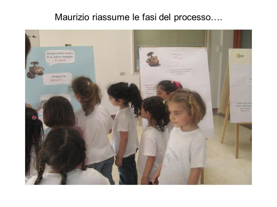Maurizio riassume le fasi del processo….
