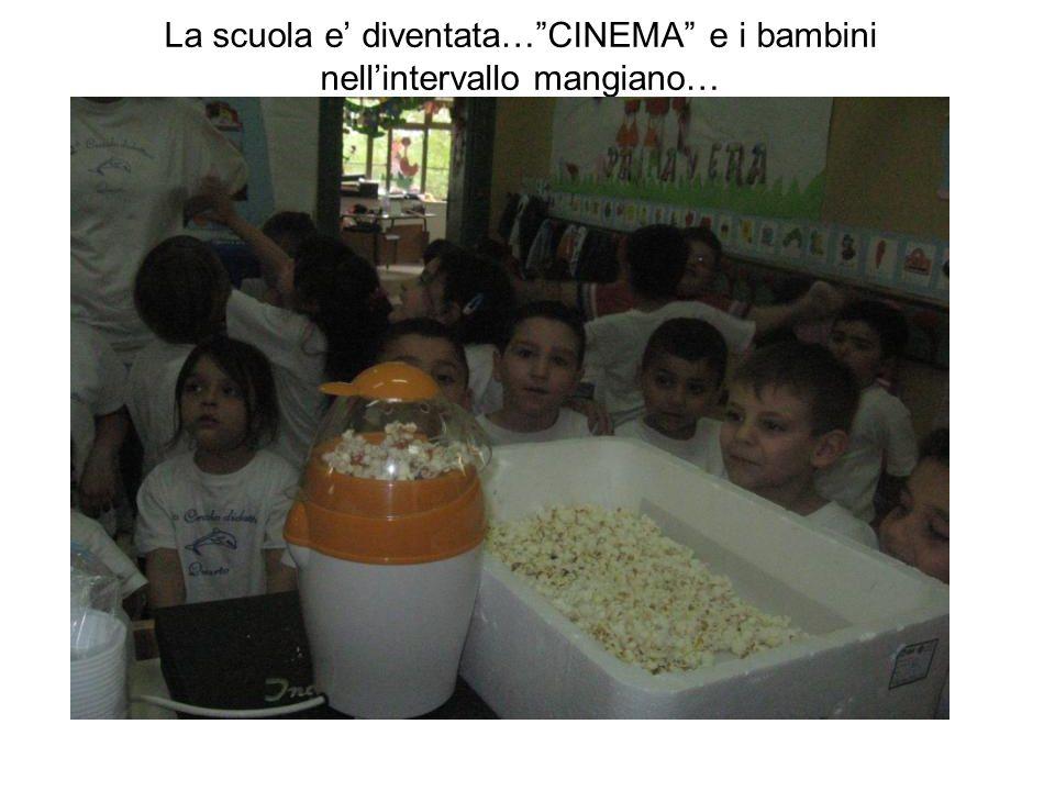 La scuola e diventata…CINEMA e i bambini nellintervallo mangiano…