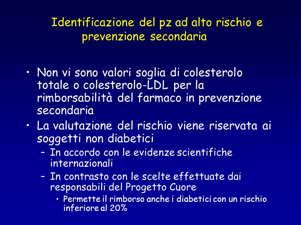 Diagnosi di dislipidemie familiari (DF) Il riferimento al tipo di DF è piuttosto vago I farmaci citati sono in fascia A per i pazienti con diagnosi accertata di DF Nel commento si suggerisce di far ricorso a centri specialistici nel caso si formuli lipotesi diagnostica di DF