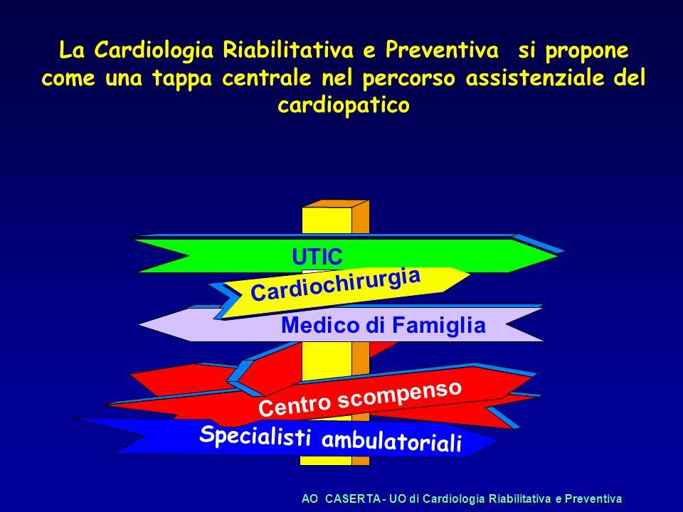 3° fase: Percorso insieme Definito il rischio del paziente concordare insieme: –Obiettivi da raggiungere –Terapie da avviare –Ulteriori indagini –Follow up
