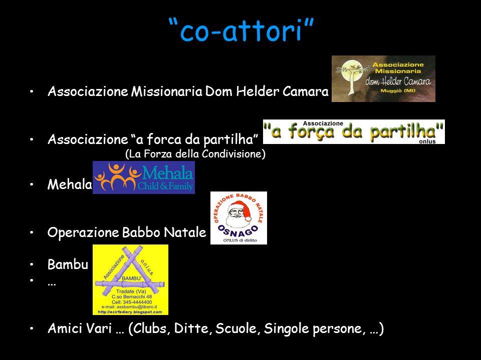 co-attori Associazione Missionaria Dom Helder Camara Associazione a forca da partilha (La Forza della Condivisione) Mehala Operazione Babbo Natale Bam