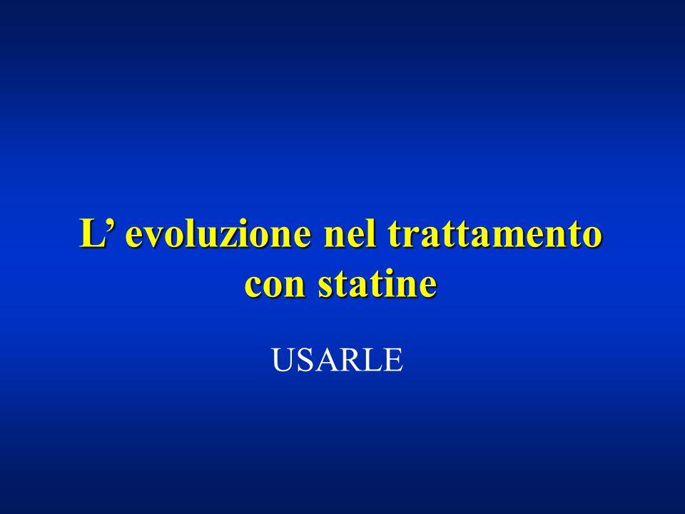 L evoluzione nel trattamento con statine USARLE