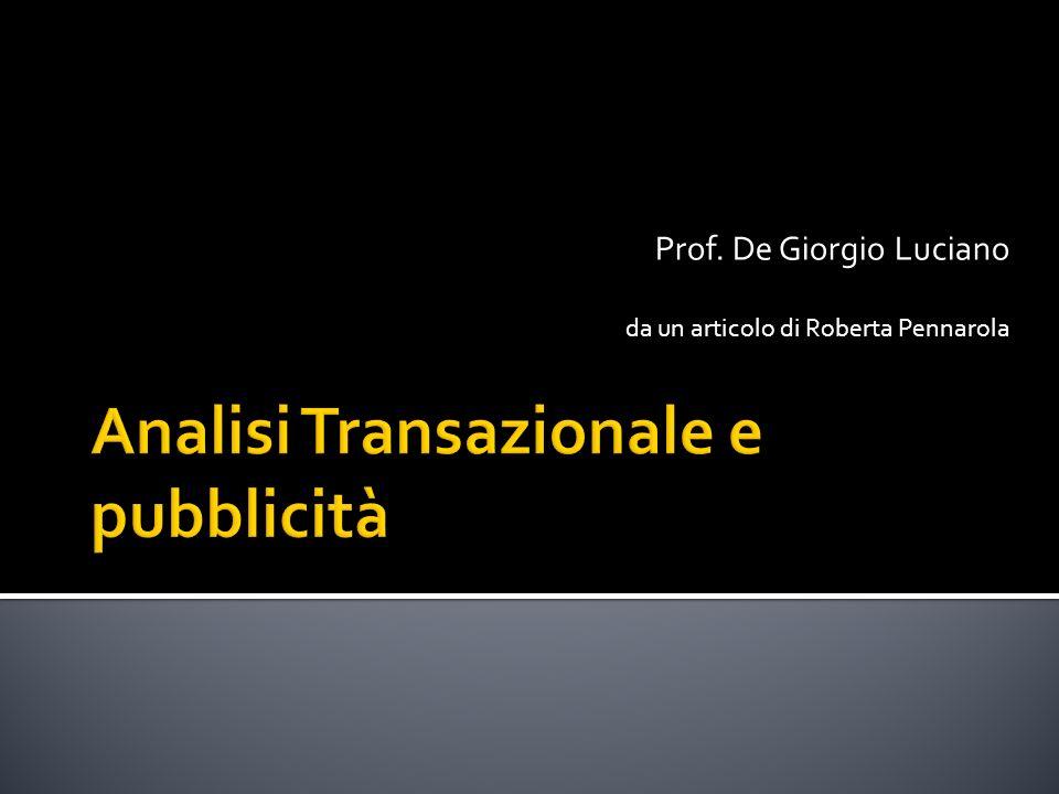Prof. De Giorgio Luciano da un articolo di Roberta Pennarola