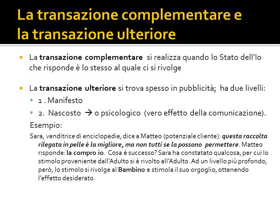La transazione complementare si realizza quando lo Stato dellIo che risponde è lo stesso al quale ci si rivolge La transazione ulteriore si trova spes