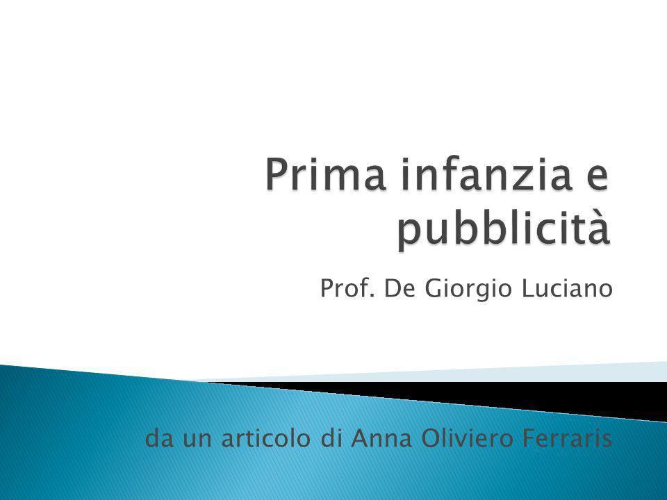 Prof. De Giorgio Luciano da un articolo di Anna Oliviero Ferraris