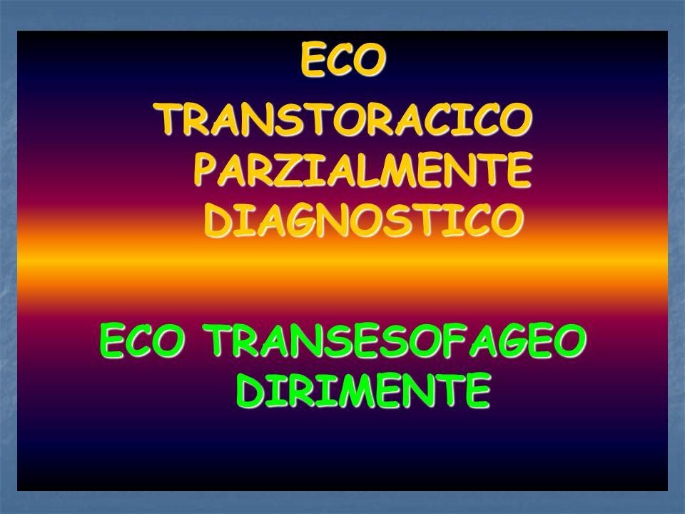 ECO TRANSTORACICO PARZIALMENTE DIAGNOSTICO ECO TRANSESOFAGEO DIRIMENTE