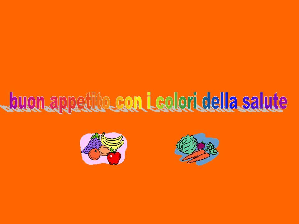 5 porzioni al giorno di frutta e ortaggi, scegliendo 5 prodotti di colore diverso
