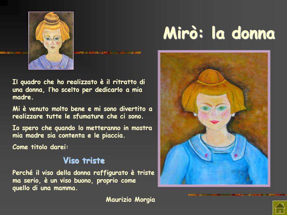 Mirò: la donna Il quadro che ho realizzato è il ritratto di una donna, lho scelto per dedicarlo a mia madre. Mi è venuto molto bene e mi sono divertit