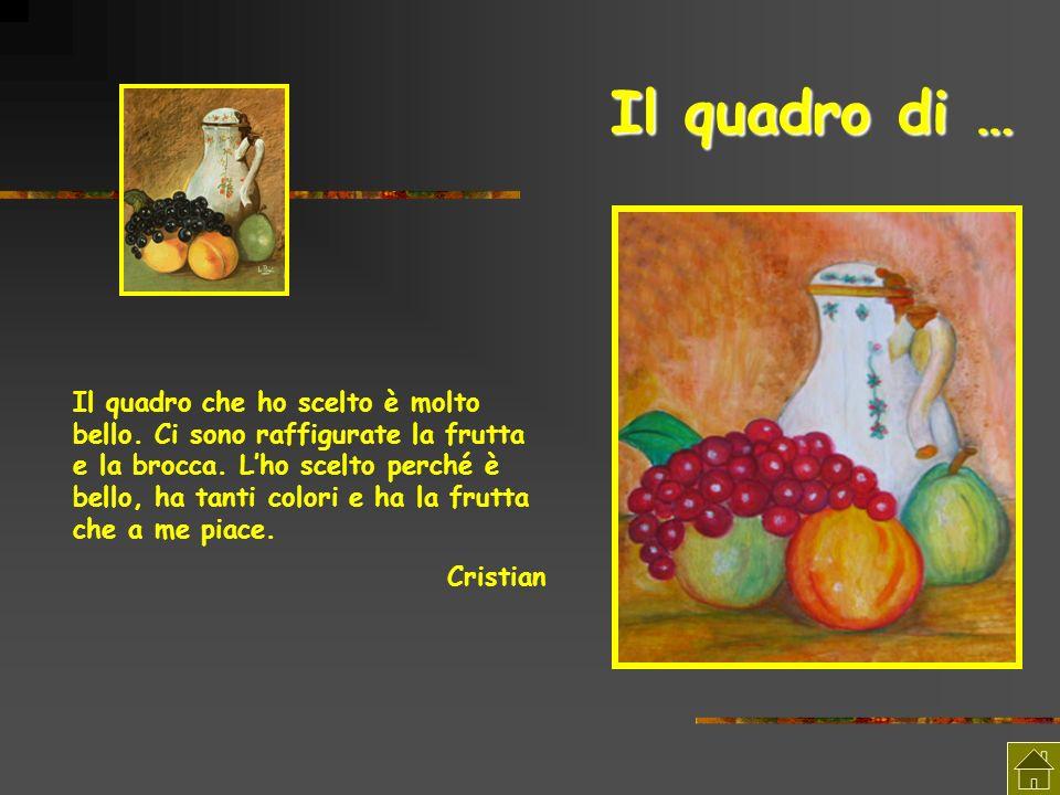 Il quadro di … Il quadro che ho scelto è molto bello. Ci sono raffigurate la frutta e la brocca. Lho scelto perché è bello, ha tanti colori e ha la fr