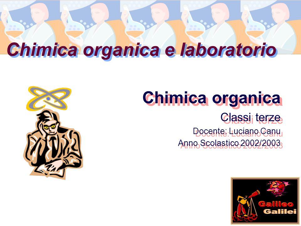 Chimica organica e laboratorio Chimica organica Classi terze Docente: Luciano Canu Anno Scolastico 2002/2003 Chimica organica Classi terze Docente: Lu