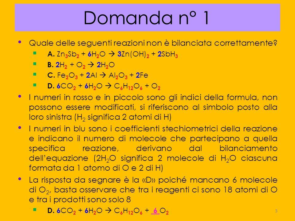 24 Domanda n° 22 La molarità (M) di una soluzione indica il numero di A.