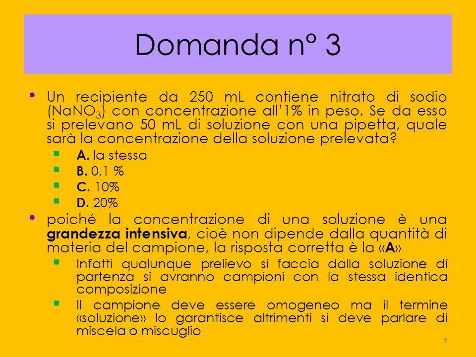 16 Domanda n° 14 (concetto di velocità di reazione,equilibrio dinamico) In una reazione chimica reversibile la velocità della reazione da sinistra a destra è uguale a quella da destra a sinistra quando A.