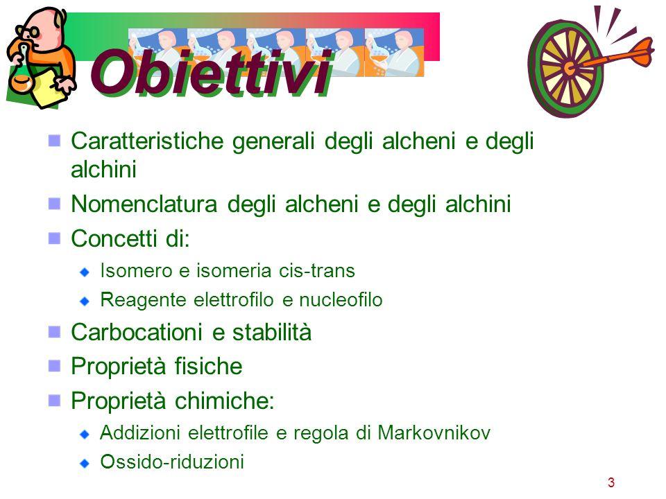 4 Obiettivi operativi Riconoscimento di alcheni e alchini con il saggio del bromo (Br)