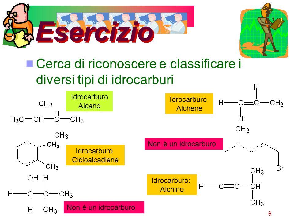 17 Esercizio Individua i composti per cui esiste lisomeria cis-trans non ha isomeri ha isomeri