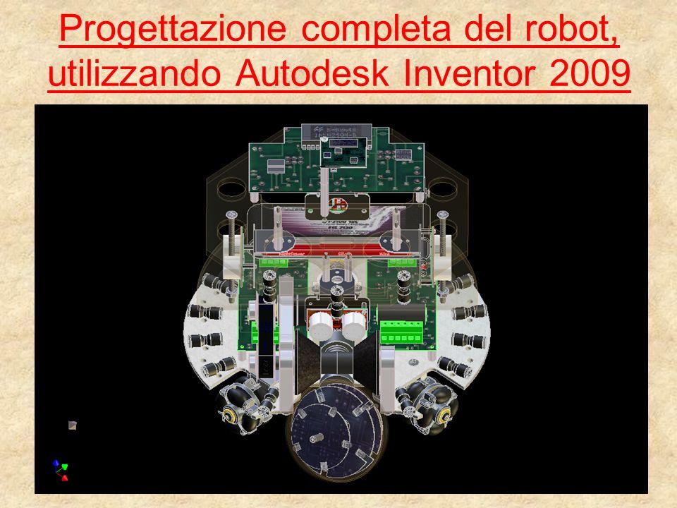 MOTO OMNIDIREZIONALE Il robot essendo dotato di 4 ruote omnidirezionali può muoversi sul piano in tutte le direzioni possibili.