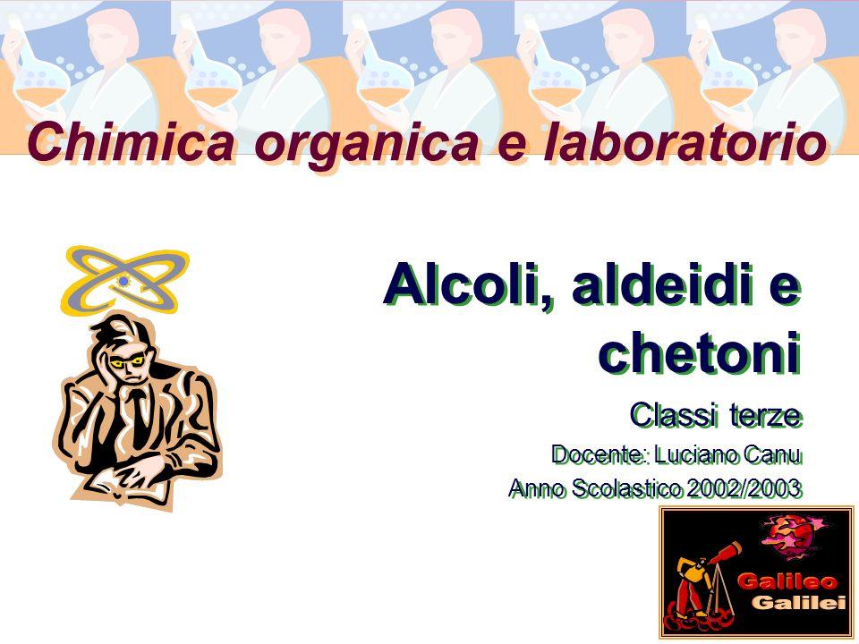 Chimica organica e laboratorio Alcoli, aldeidi e chetoni Classi terze Docente: Luciano Canu Anno Scolastico 2002/2003 Alcoli, aldeidi e chetoni Classi