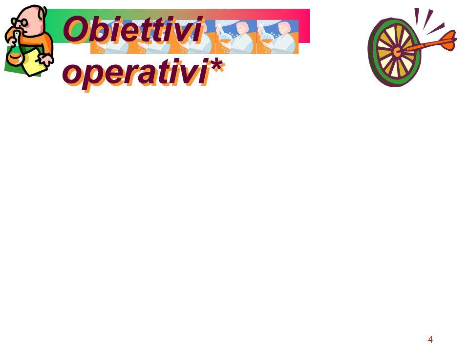 4 Obiettivi operativi*
