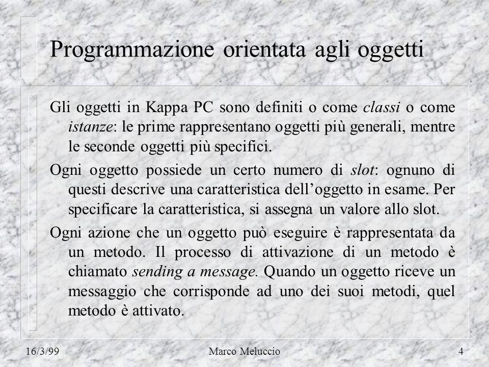 16/3/99Marco Meluccio45 Strategia best-first