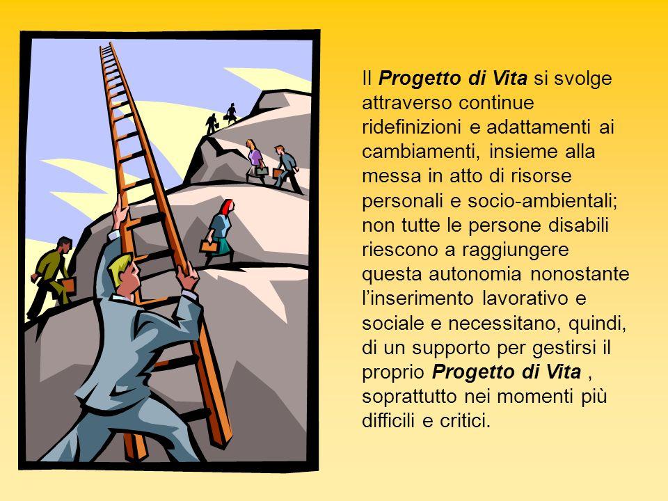 Il Progetto di Vita si svolge attraverso continue ridefinizioni e adattamenti ai cambiamenti, insieme alla messa in atto di risorse personali e socio-