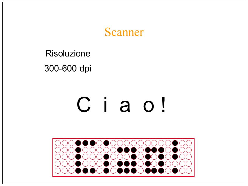 Risoluzione 300-600 dpi C i a o !