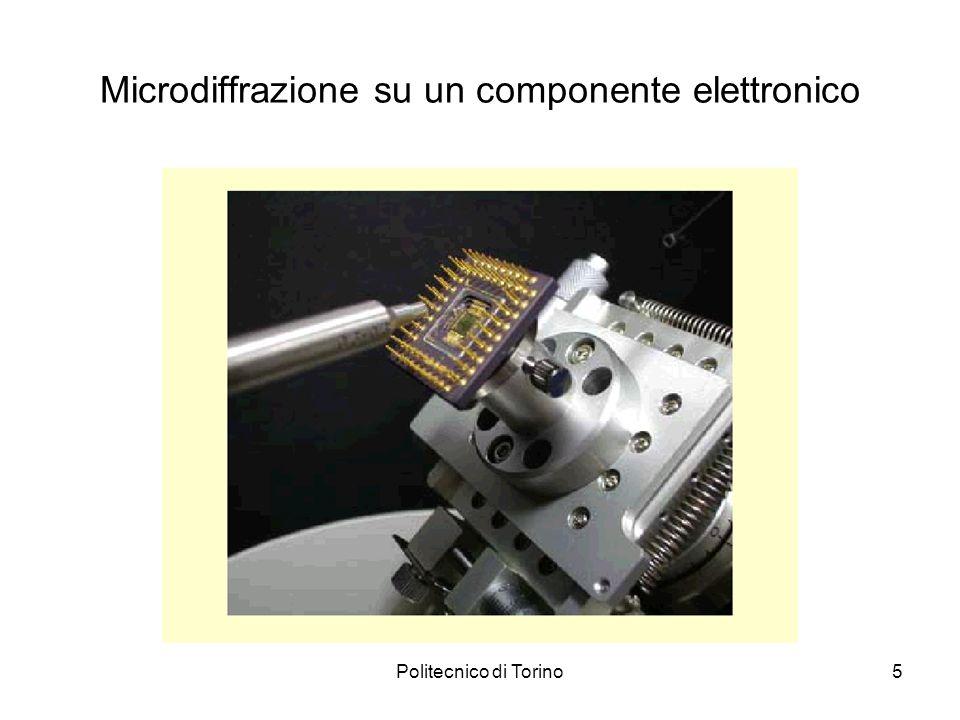 Politecnico di Torino6 Microdiffrazione su un componente elettronico