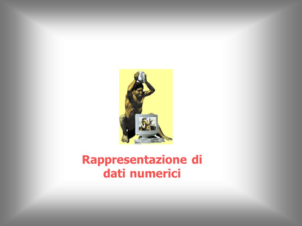 © Piero Demichelis 22 Numero di bit della rappresentazione binaria (5) 2 10 = 1024 10 3 Kilo 2 20 = 1.048.576 10 6 Mega 2 30 = 1.073.741.824 10 9 Giga