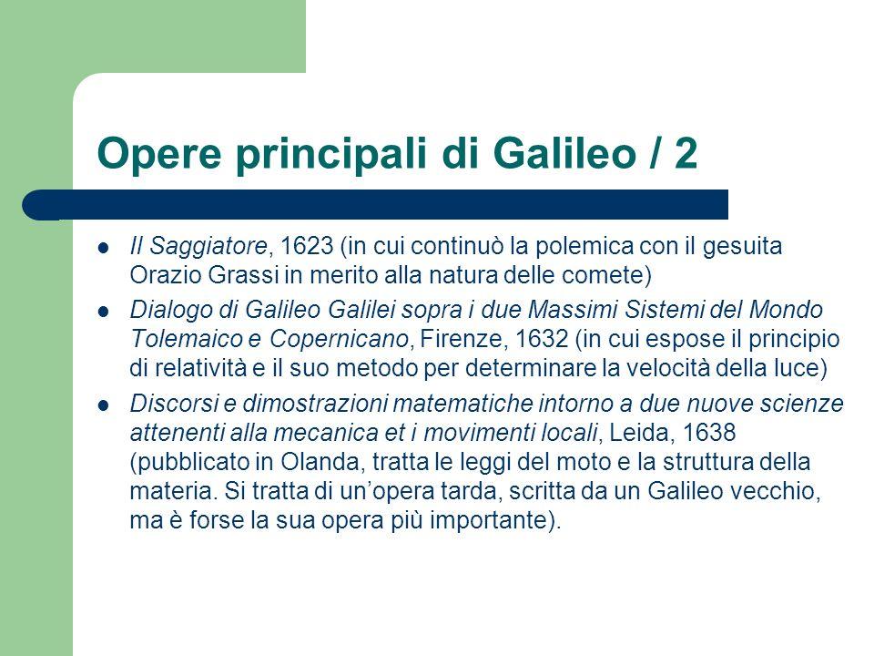 Opere principali di Galileo / 2 Il Saggiatore, 1623 (in cui continuò la polemica con il gesuita Orazio Grassi in merito alla natura delle comete) Dial