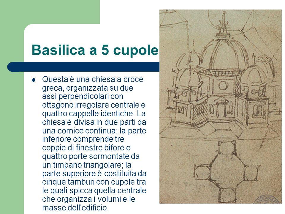 Basilica a 5 cupole Questa è una chiesa a croce greca, organizzata su due assi perpendicolari con ottagono irregolare centrale e quattro cappelle iden
