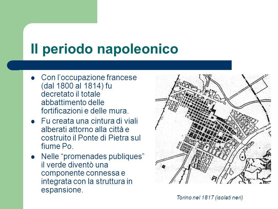 Il periodo napoleonico Con loccupazione francese (dal 1800 al 1814) fu decretato il totale abbattimento delle fortificazioni e delle mura. Fu creata u