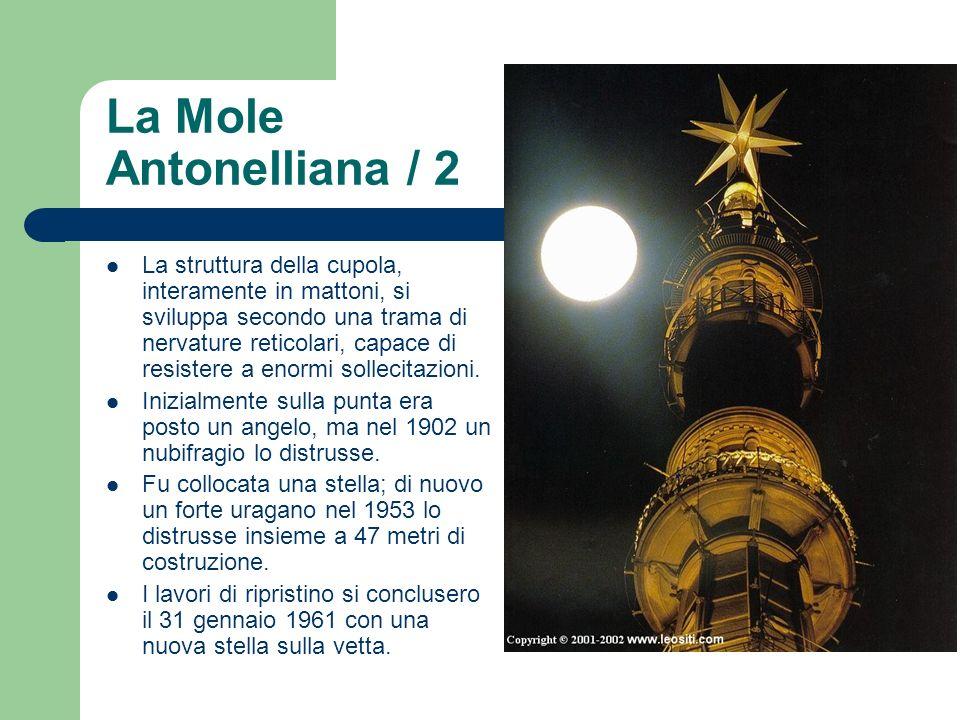 La Mole Antonelliana / 2 La struttura della cupola, interamente in mattoni, si sviluppa secondo una trama di nervature reticolari, capace di resistere