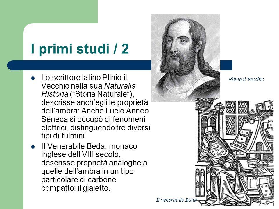 I primi studi / 2 Lo scrittore latino Plinio il Vecchio nella sua Naturalis Historia (Storia Naturale), descrisse anchegli le proprietà dellambra: Anc